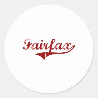 Diseño clásico de Fairfield California Pegatina Redonda