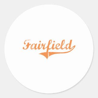 Diseño clásico de Fairfield Illinois Pegatina Redonda