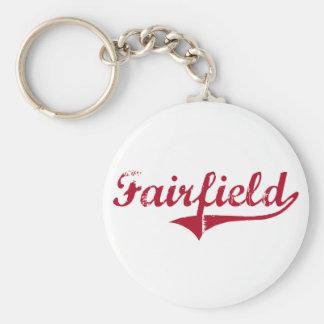 Diseño clásico de Fairfield New Jersey Llavero Redondo Tipo Pin