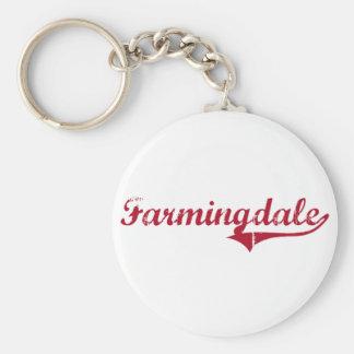 Diseño clásico de Farmingdale New Jersey Llavero