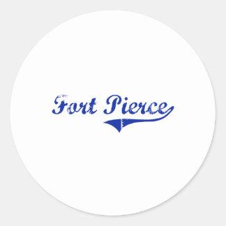 Diseño clásico de Fort Pierce la Florida Etiquetas Redondas