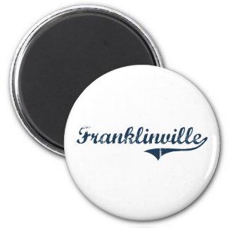 Diseño clásico de Franklinville Nueva York Imán Redondo 5 Cm