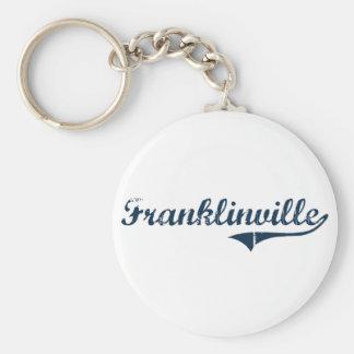Diseño clásico de Franklinville Nueva York Llavero Redondo Tipo Pin