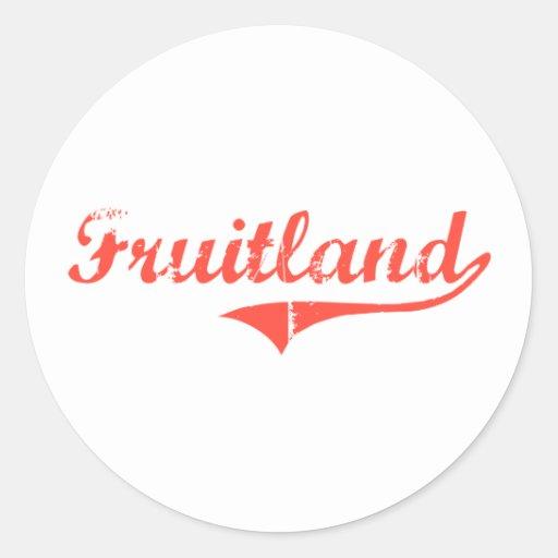 Diseño clásico de Fruitland Maryland Pegatina Redonda