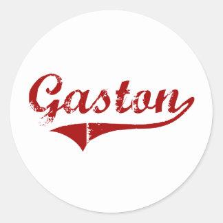 Diseño clásico de Gastón Carolina del Sur Pegatina Redonda