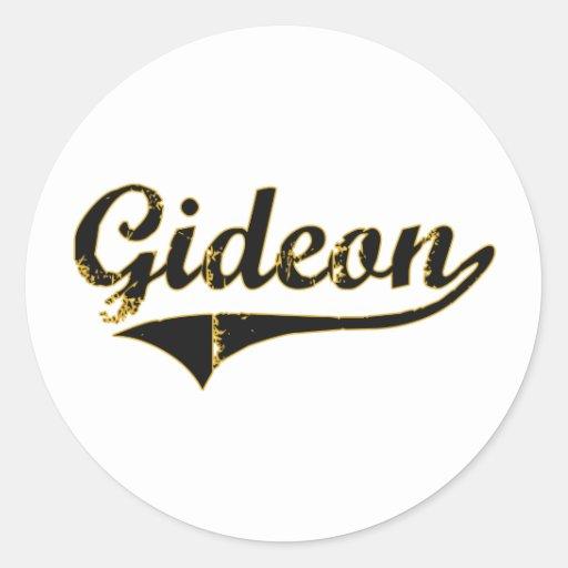 Diseño clásico de Gideon Missouri Pegatina Redonda