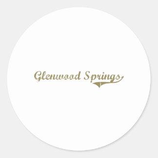 Diseño clásico de Glenwood Springs Colorado Pegatinas Redondas
