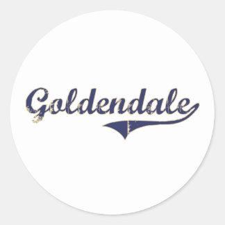 Diseño clásico de Goldendale Washington Pegatinas Redondas