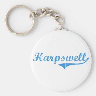 Diseño clásico de Harpswell Maine Llavero Redondo Tipo Pin