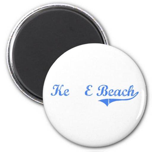 Diseño clásico de Hawaii de la playa de Ke'E Imán Para Frigorifico