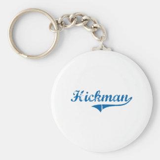 Diseño clásico de Hickman Kentucky Llavero Redondo Tipo Pin