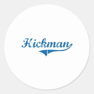 Diseño clásico de Hickman Kentucky Pegatina Redonda