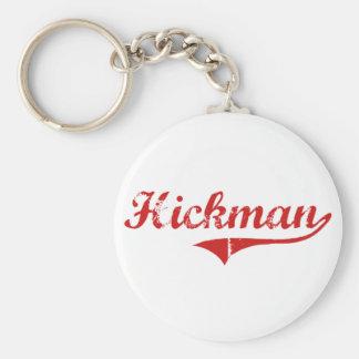 Diseño clásico de Hickman Nebraska Llavero Redondo Tipo Pin