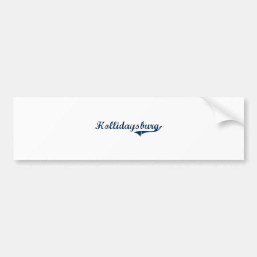 Diseño clásico de Hollidaysburg Pennsylvania Etiqueta De Parachoque