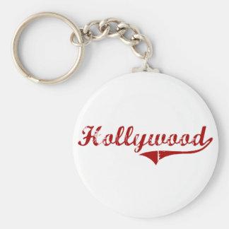 Diseño clásico de Hollywood Carolina del Sur Llavero Redondo Tipo Pin
