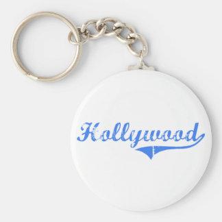 Diseño clásico de Hollywood New Jersey Llavero Redondo Tipo Pin