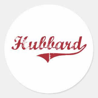 Diseño clásico de Hubbard Ohio Pegatinas Redondas