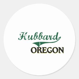 Diseño clásico de Hubbard Oregon Etiqueta Redonda