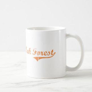 Diseño clásico de Illinois del bosque del roble Tazas De Café