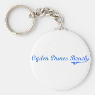 Diseño clásico de Indiana de la playa de las dunas Llavero Redondo Tipo Pin
