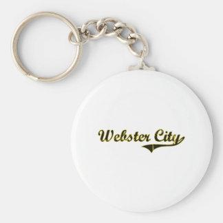Diseño clásico de Iowa de la ciudad de Webster Llavero Redondo Tipo Pin