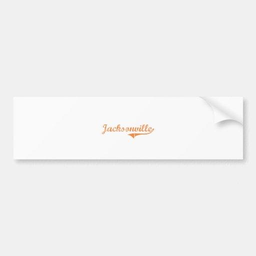 Diseño clásico de Jacksonville Illinois Pegatina Para Auto