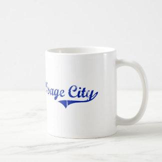 Diseño clásico de Kansas de la ciudad de Osage Tazas