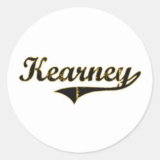 Diseño clásico de Kearney Missouri Etiqueta Redonda