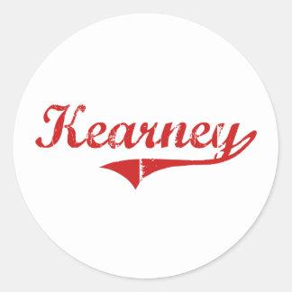Diseño clásico de Kearney Nebraska Pegatinas Redondas