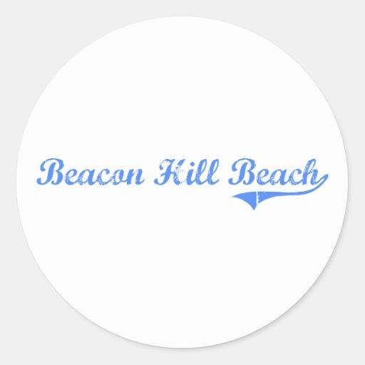 Diseño clásico de la Florida de la playa de Beacon Etiqueta Redonda