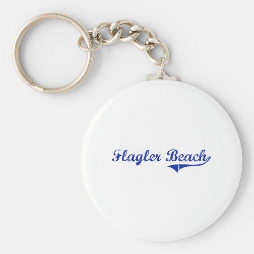 Diseño clásico de la Florida de la playa de Flagle Llavero Personalizado