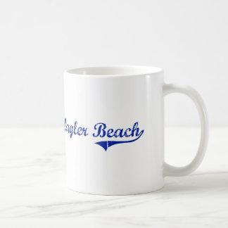 Diseño clásico de la Florida de la playa de Flagle Tazas De Café