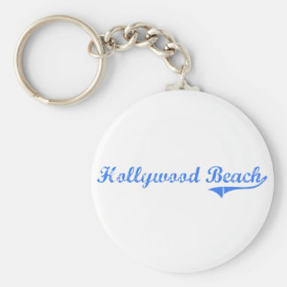 Diseño clásico de la Florida de la playa de Hollyw Llavero Redondo Tipo Pin