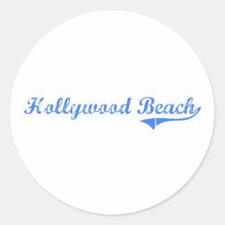 Diseño clásico de la Florida de la playa de Pegatina Redonda