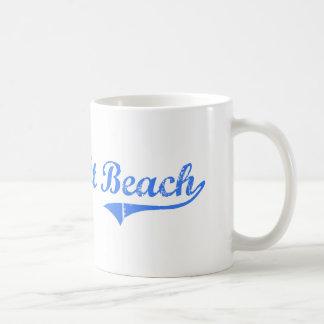 Diseño clásico de la Florida de la playa de Taza Básica Blanca