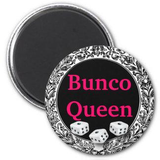 Diseño clásico de la reina de Bunco Imán Redondo 5 Cm