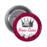 Diseño clásico de la reina de Bunco Pin Redondo 5 Cm