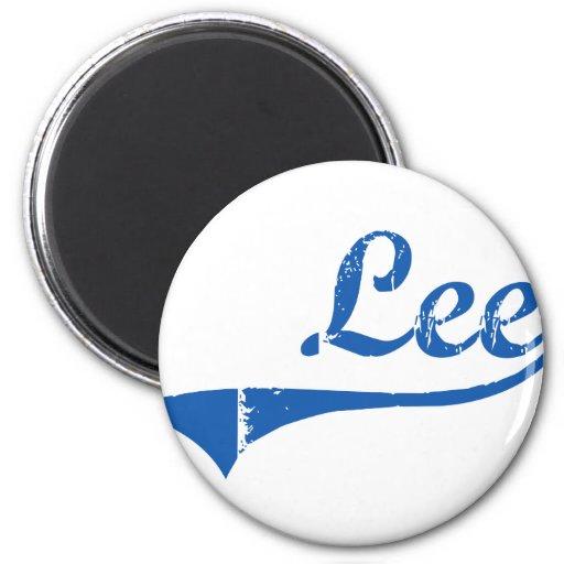 Diseño clásico de Lee New Hampshire Imán Redondo 5 Cm