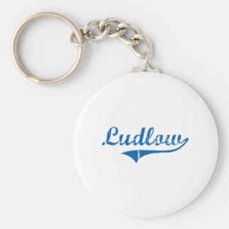 Diseño clásico de Ludlow Kentucky Llaveros