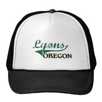 Diseño clásico de Lyon Oregon Gorros Bordados