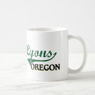 Diseño clásico de Lyon Oregon Taza Básica Blanca