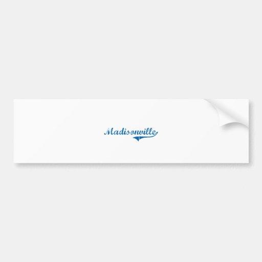 Diseño clásico de Madisonville Kentucky Pegatina De Parachoque