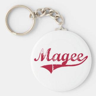 Diseño clásico de Magee Mississippi Llavero Redondo Tipo Pin