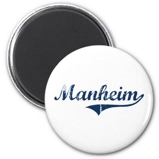 Diseño clásico de Manheim Pennsylvania Imán Redondo 5 Cm