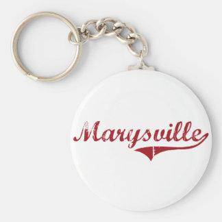 Diseño clásico de Marysville Ohio Llavero Redondo Tipo Pin