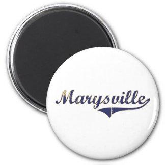 Diseño clásico de Marysville Washington Imán Redondo 5 Cm