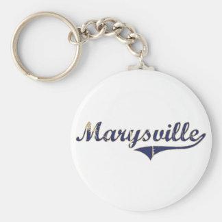 Diseño clásico de Marysville Washington Llavero Redondo Tipo Pin