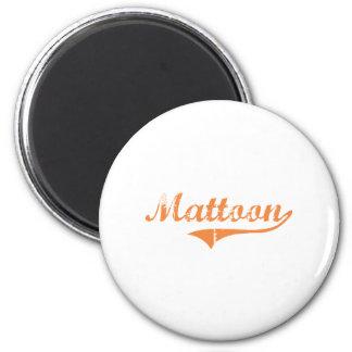 Diseño clásico de Mattoon Illinois Imán Redondo 5 Cm