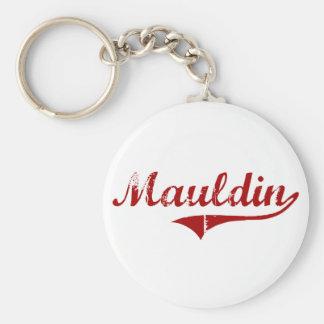 Diseño clásico de Mauldin Carolina del Sur Llavero Redondo Tipo Pin