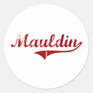 Diseño clásico de Mauldin Carolina del Sur Pegatina Redonda